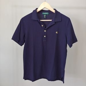 Lauren Ralph Lauren Polo T-Shirt Navy Blue Medium